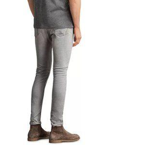 ALLSAINTS Cigarette Fit Jeans Grey distressed 34